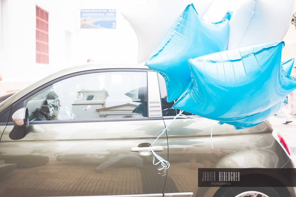 Decoracion con Globos para coches de Novios