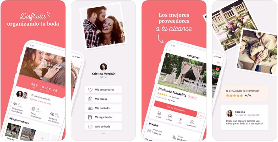 Las mejores Aplicaciones móviles para Bodas Bodas.net