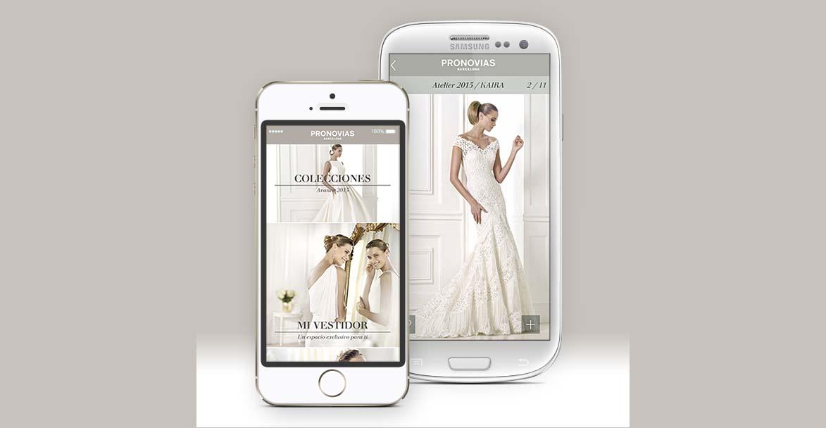 Las mejores Aplicaciones móviles para Bodas Pronovias
