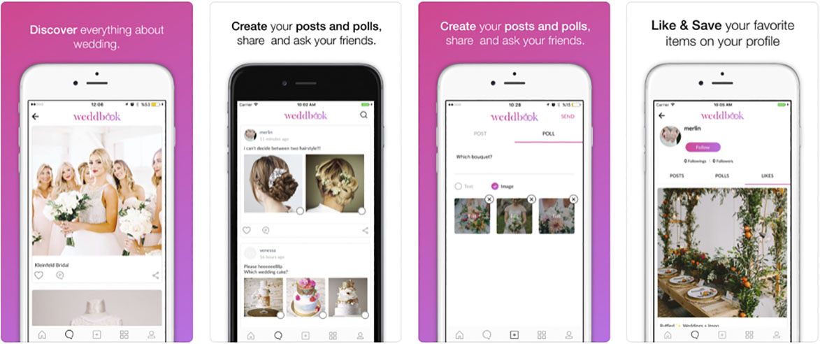 Las mejores Aplicaciones móviles para Bodas weddbook