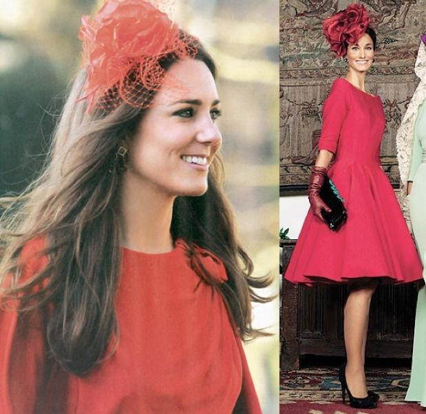 Tocados para vestido rojo largo