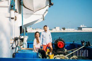 Fotos de Preboda en el Mar Barcos de Pesca