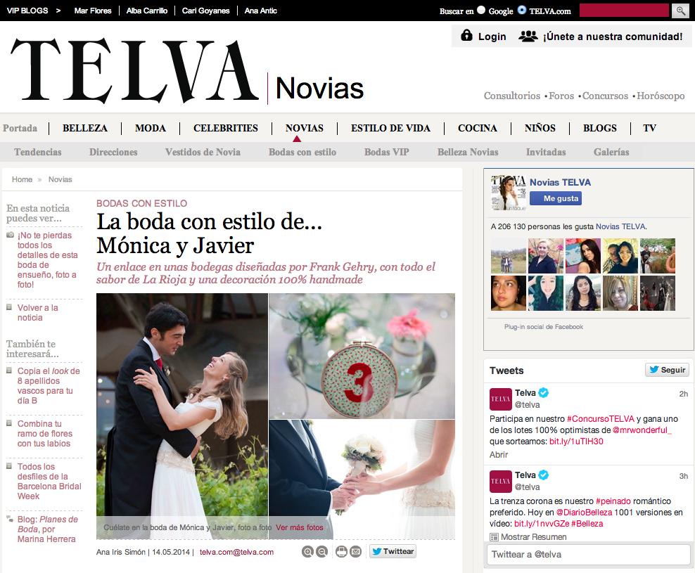 Publicacion en Telva Novias Javier Berenguer