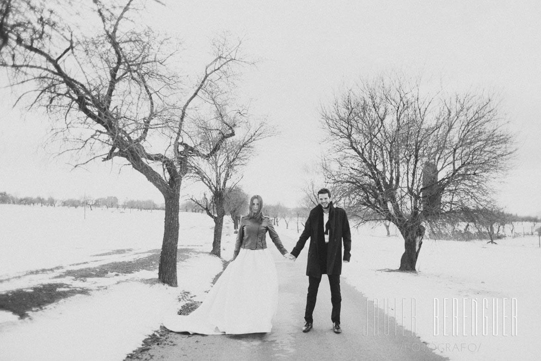 sesin de fotos postboda en la nieve