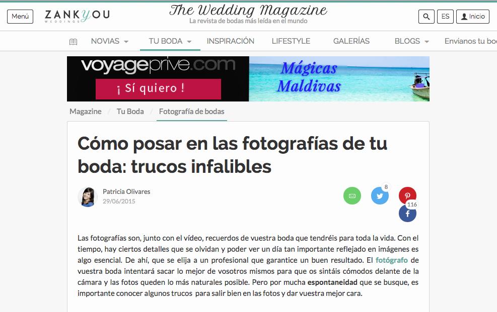 Publicación Zankyou Bodas Wedding Magazine