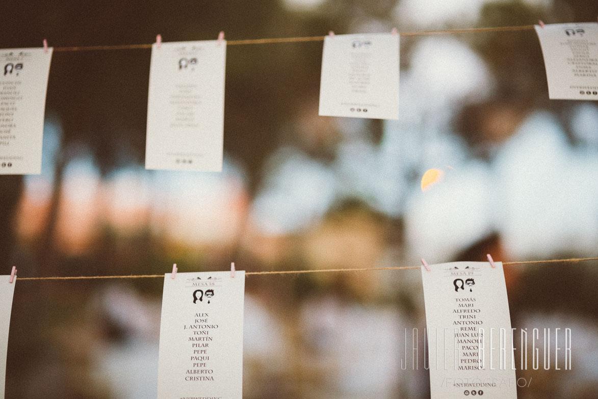 Seating Plan y Wedding Planner Alicante