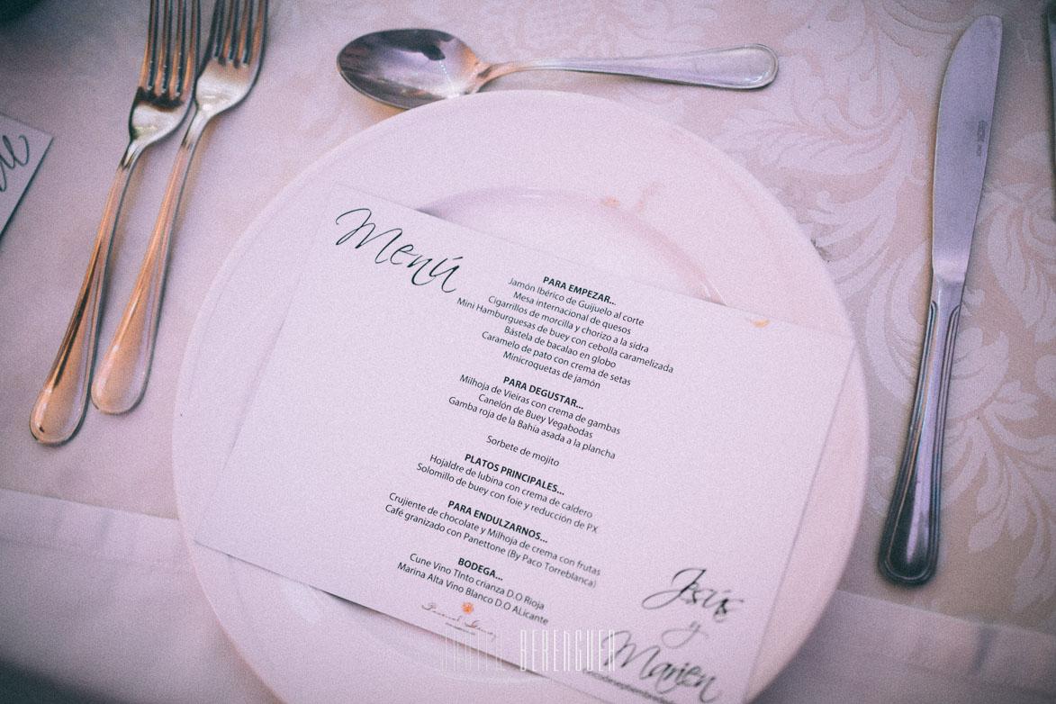 Menu de Bodas en finca villa vera vega bodas