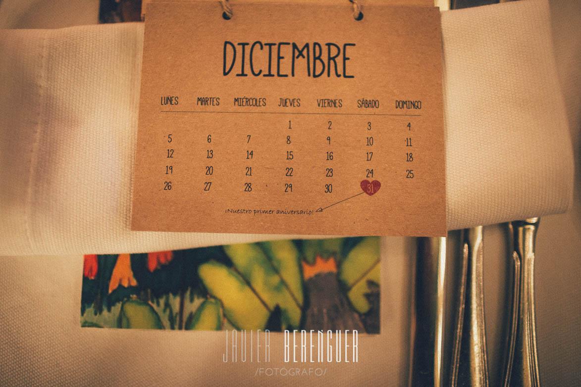 Calendario Fotos Boda Nochevieja Hotel Huerto del Cura
