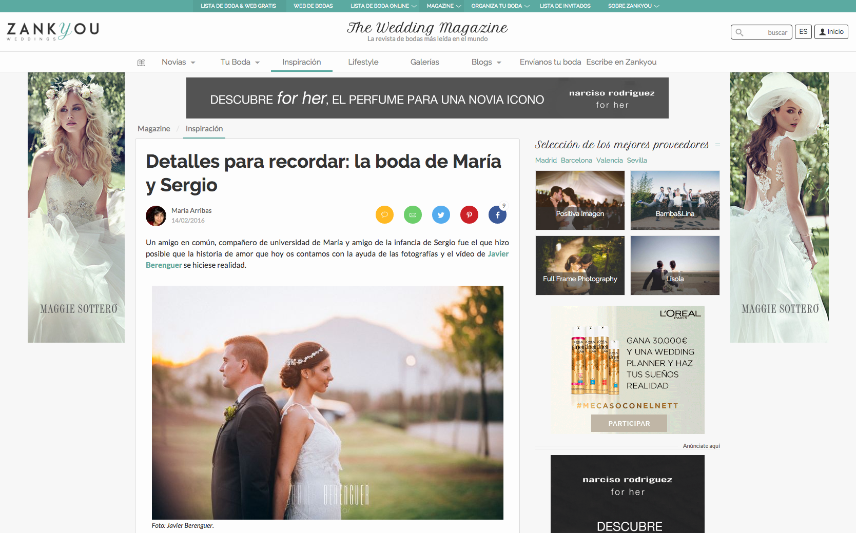 Publicacion Boda ZankYou Magazzine Sergio Maria