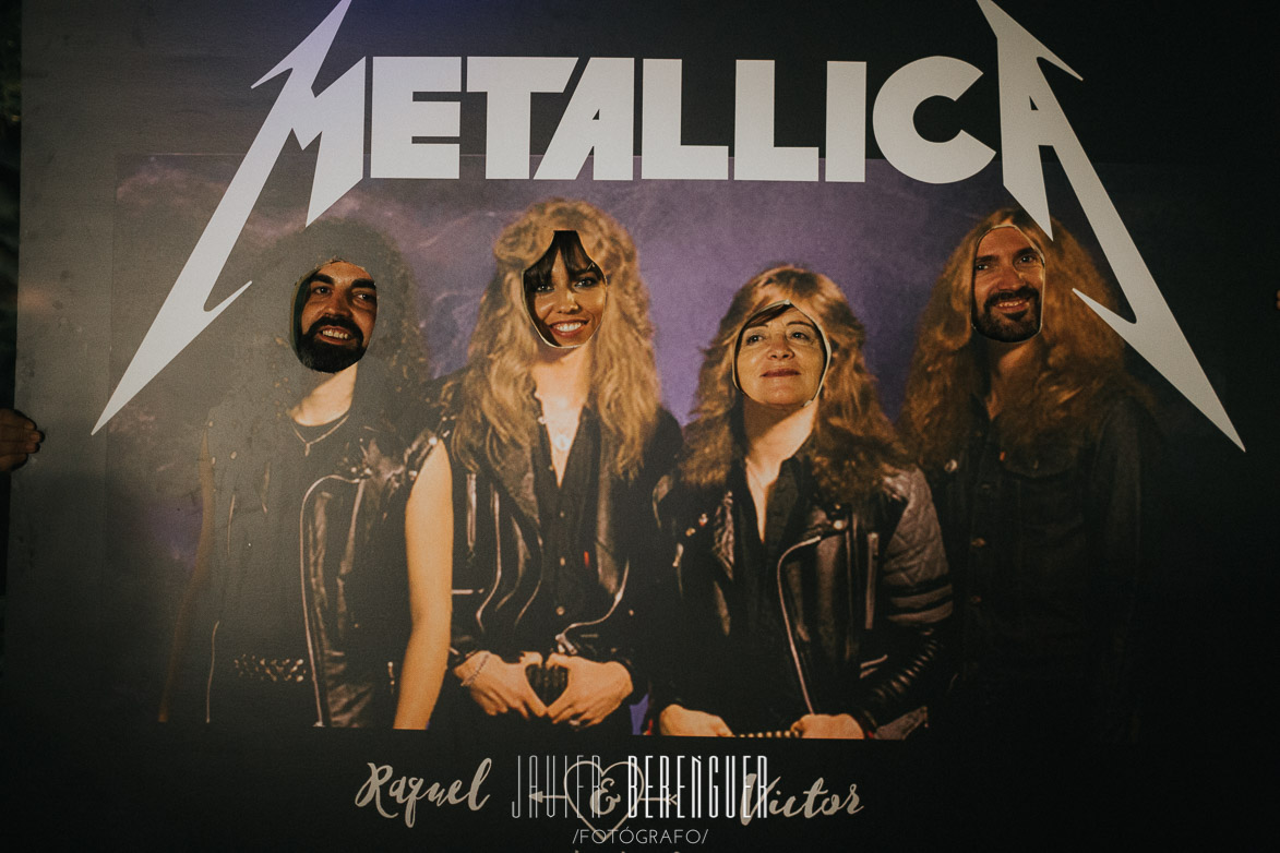 Photocall Metallica Boda