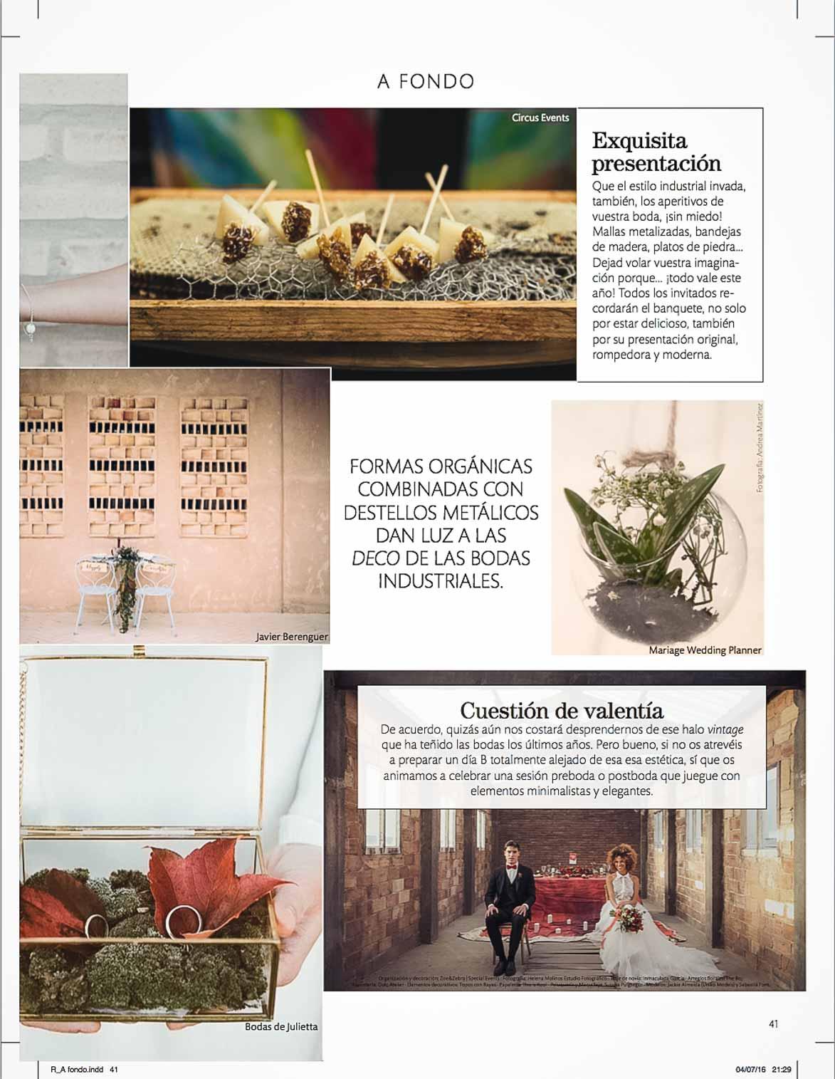 Publicación en Revista Novias España