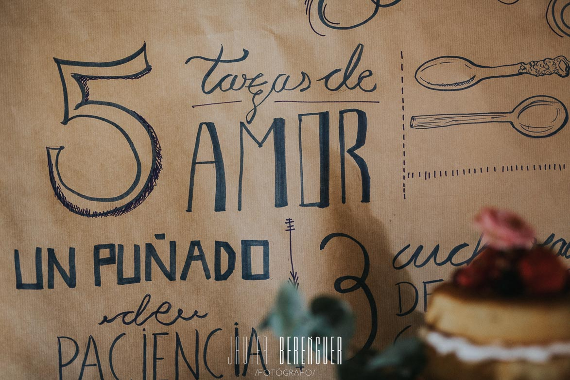 Dessert Table Lettering a mano