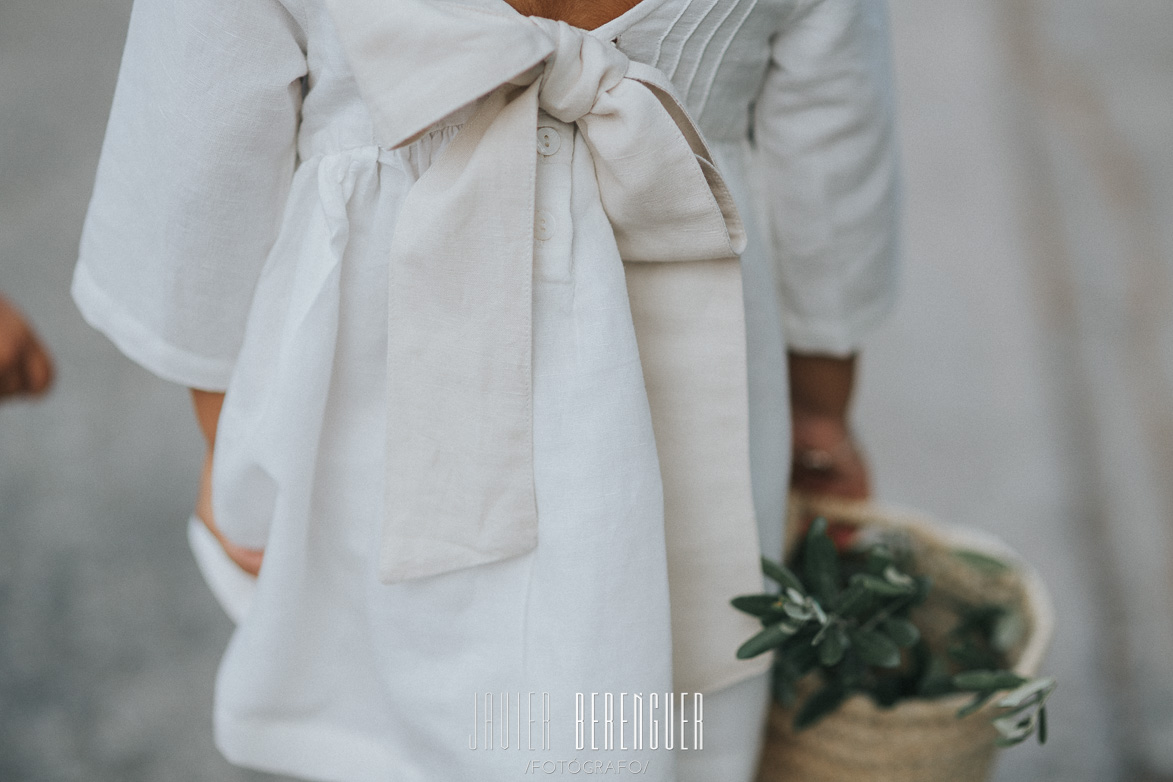 Trajes con lazo para niñas boda