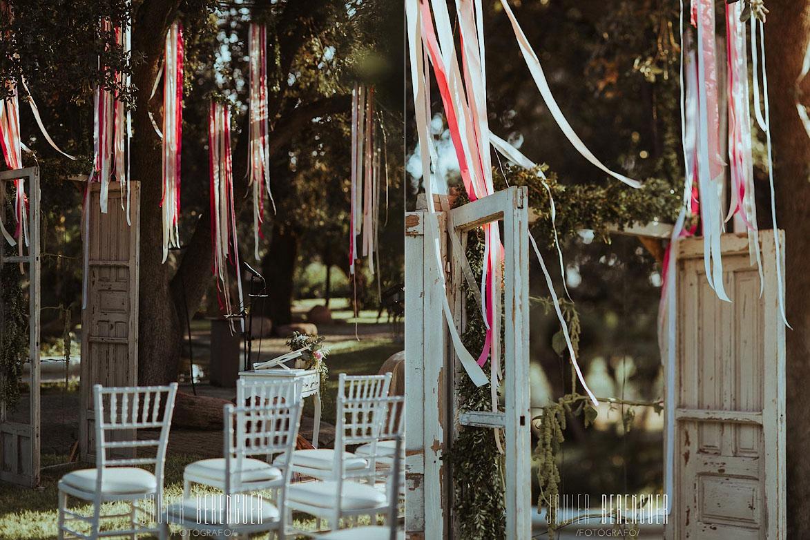 Fotos decoración ceremonia en finca el torrero