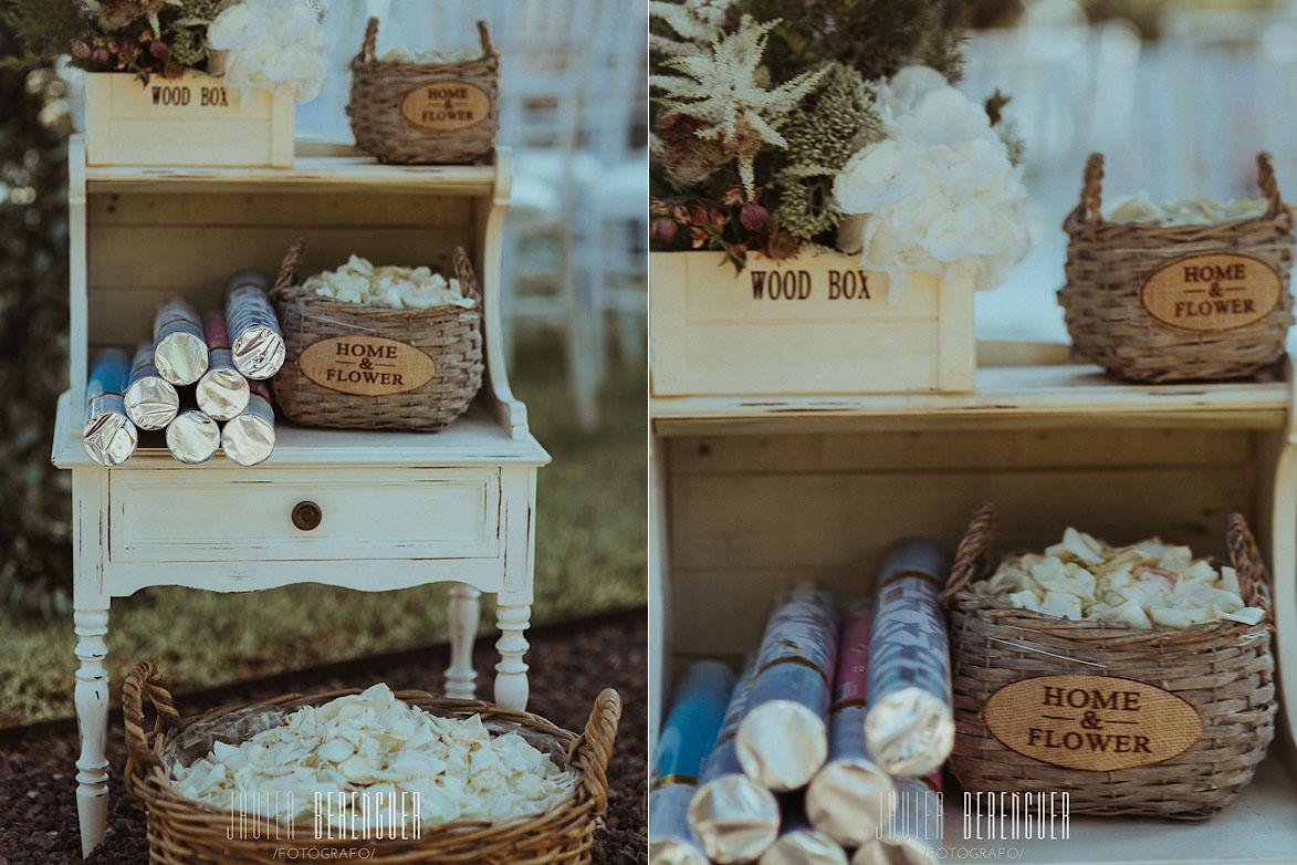 Mesa Para Petalos en boda
