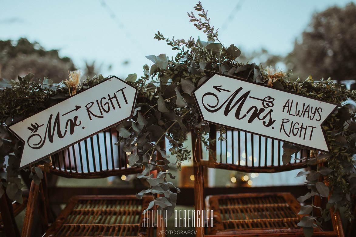 Fotos Carteles Mr & Mrs para Bodas