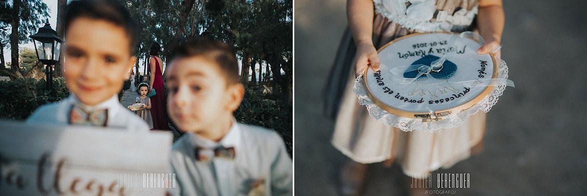 Bastidor porta anillos para boda