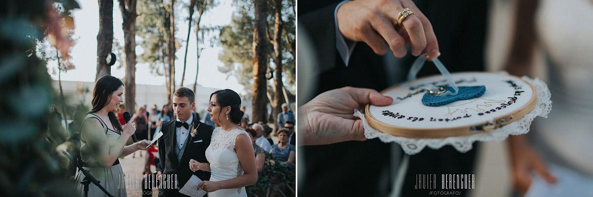 Porta anillos para boda