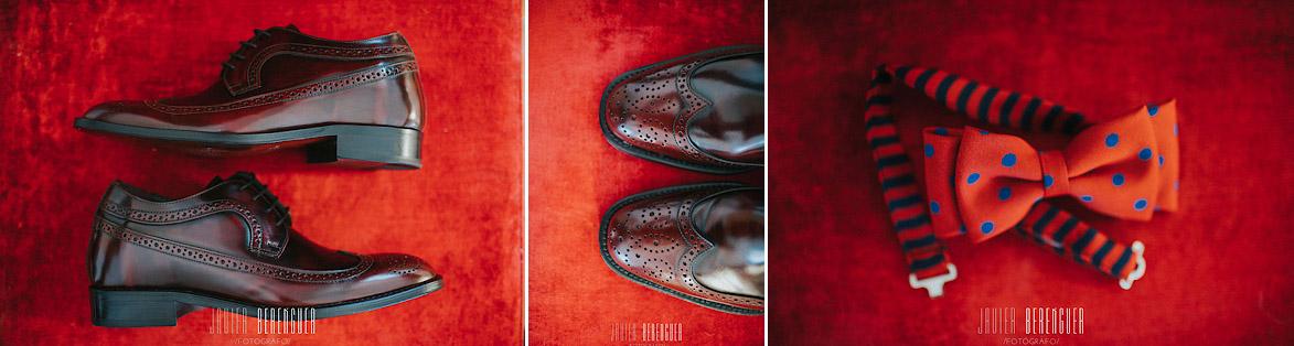 Zapatos y pajarita para bodas