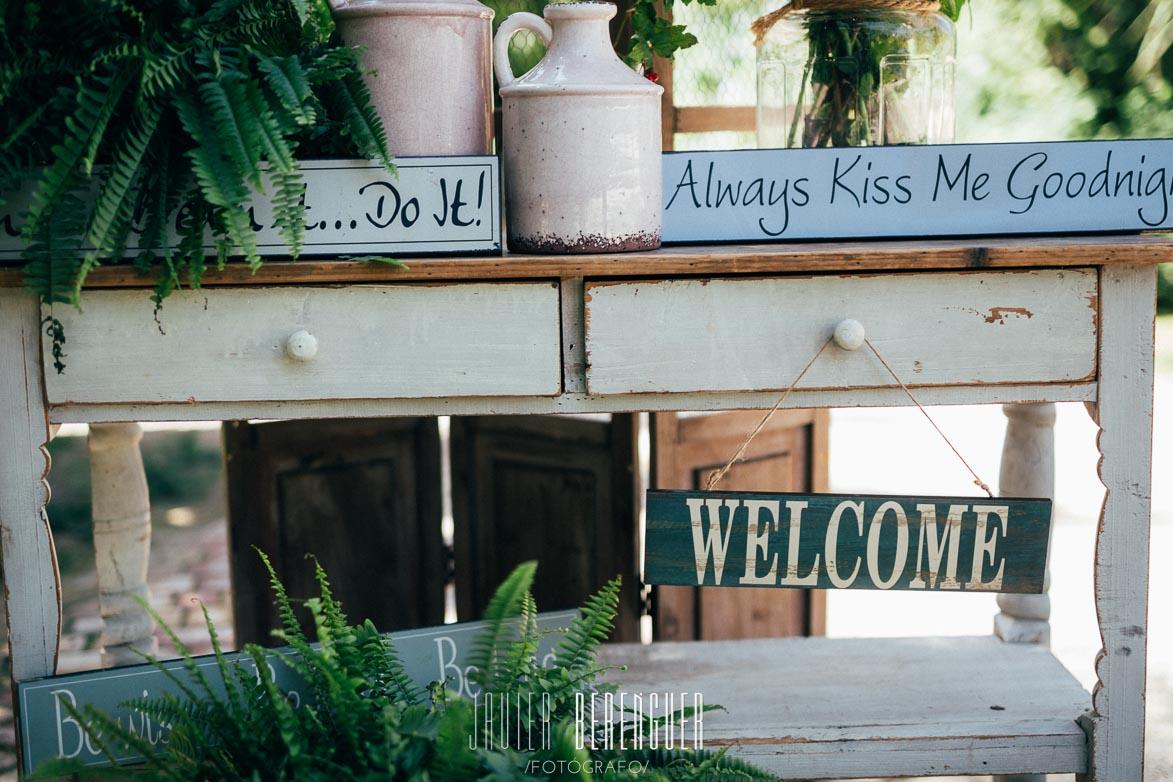 Fotos de Bienvenida para Bodas de Floristería La Trastienda