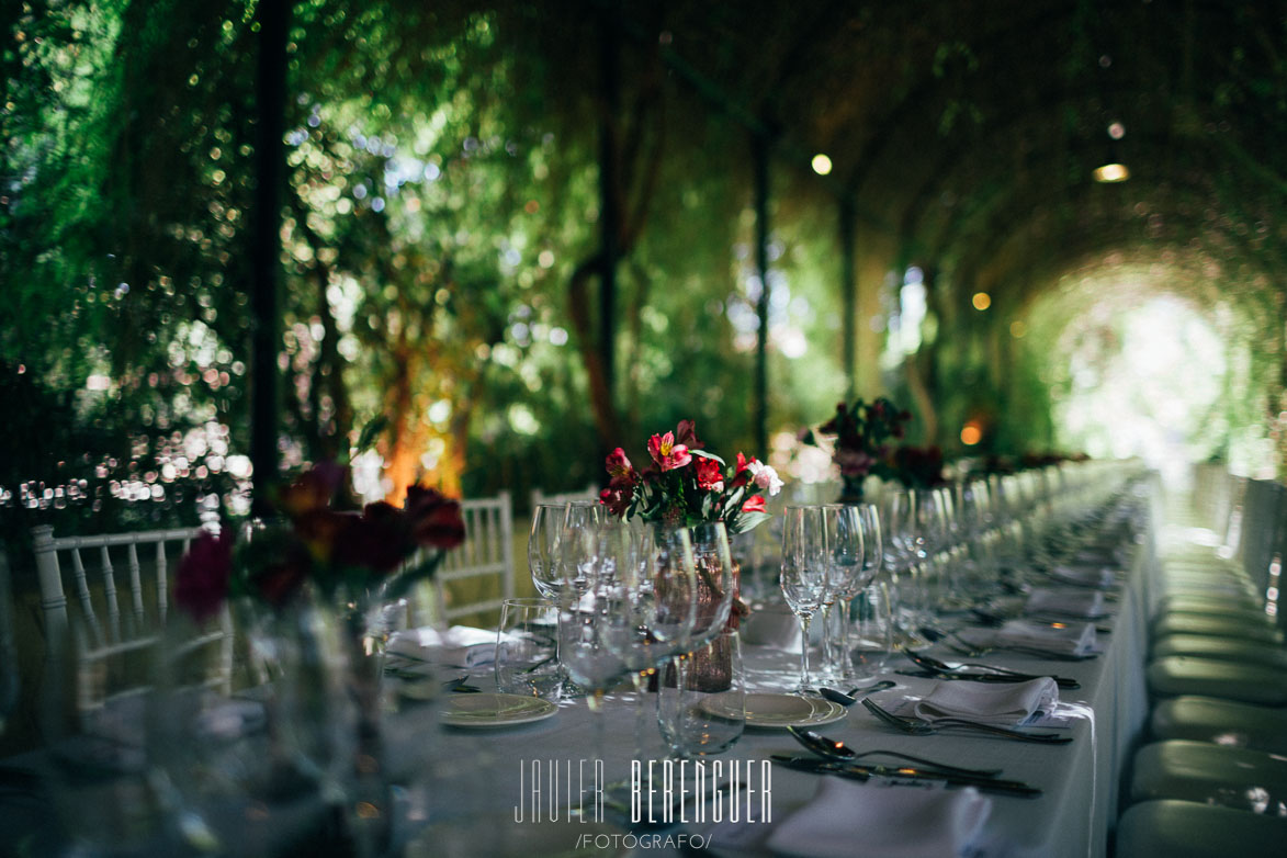 Centros de mesa y decoración para bodas en Jardines de Abril Alicante