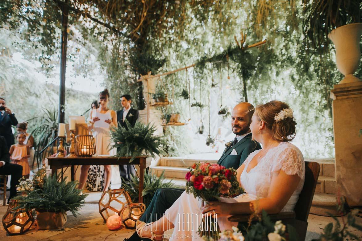 Fotos Ceremonia Civil de Bodas en Jardines de Abril Wedding Planner Alicante