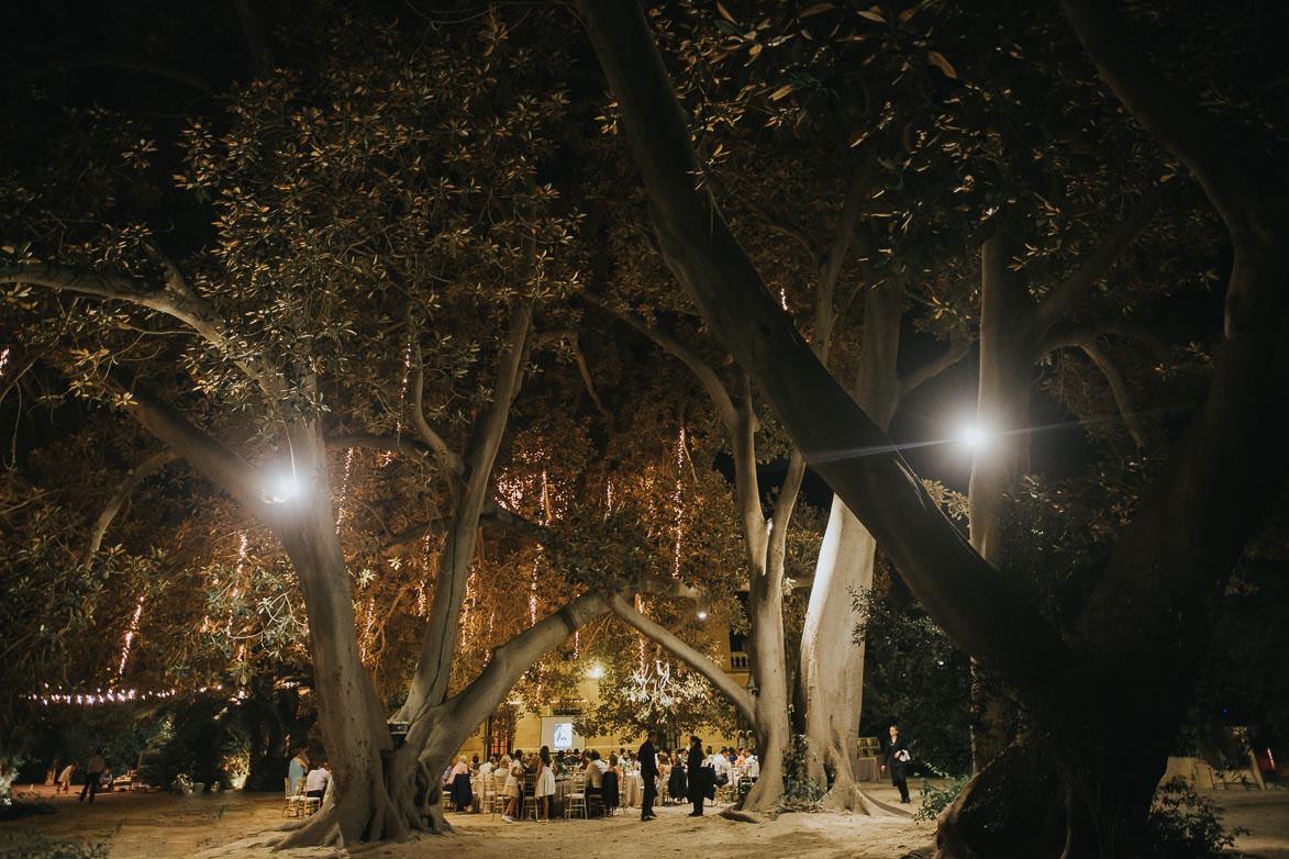 Fotos de Bodas de Noche en Jardines de Abril