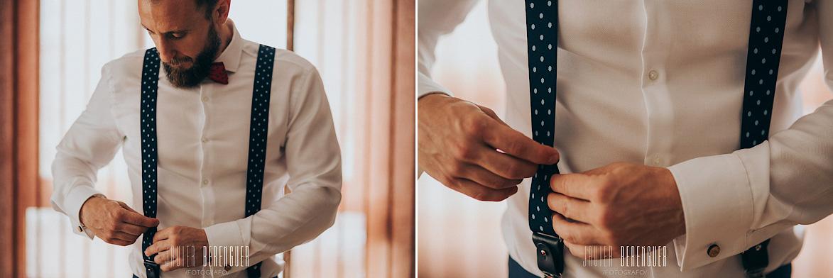Pajaritas para bodas y tirantes