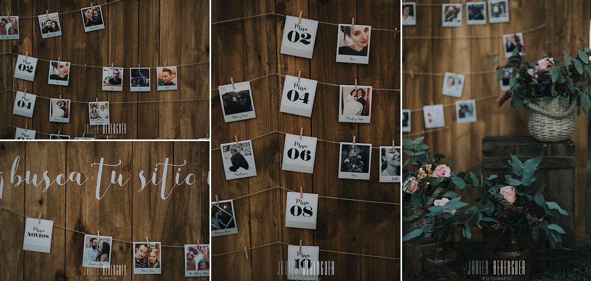 Seating plan fotos de invitados
