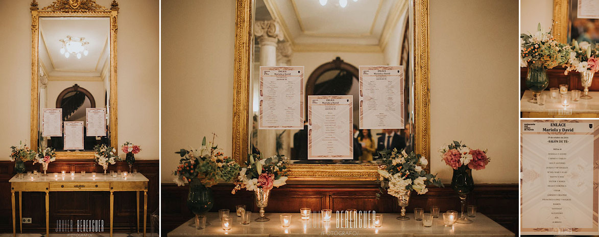 Seating Plan y Decoracion de Boda en Murcia