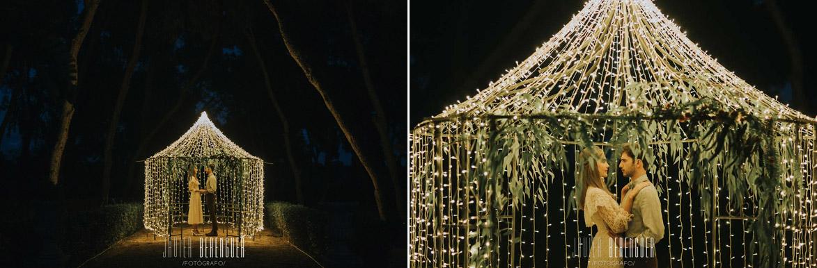 Decoración Romántica Con Luces de Led para Bodas en Fincas