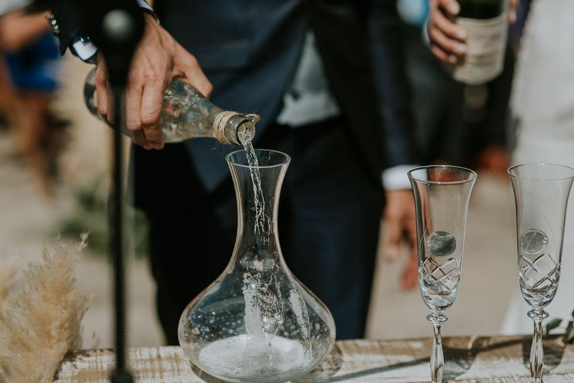 Rito Agua y Vino en Boda Restaurante Montepiedra Clara Campoamor
