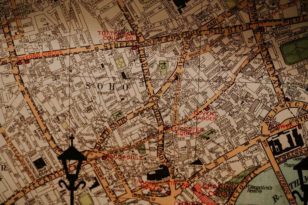 Mapas Soho Londres