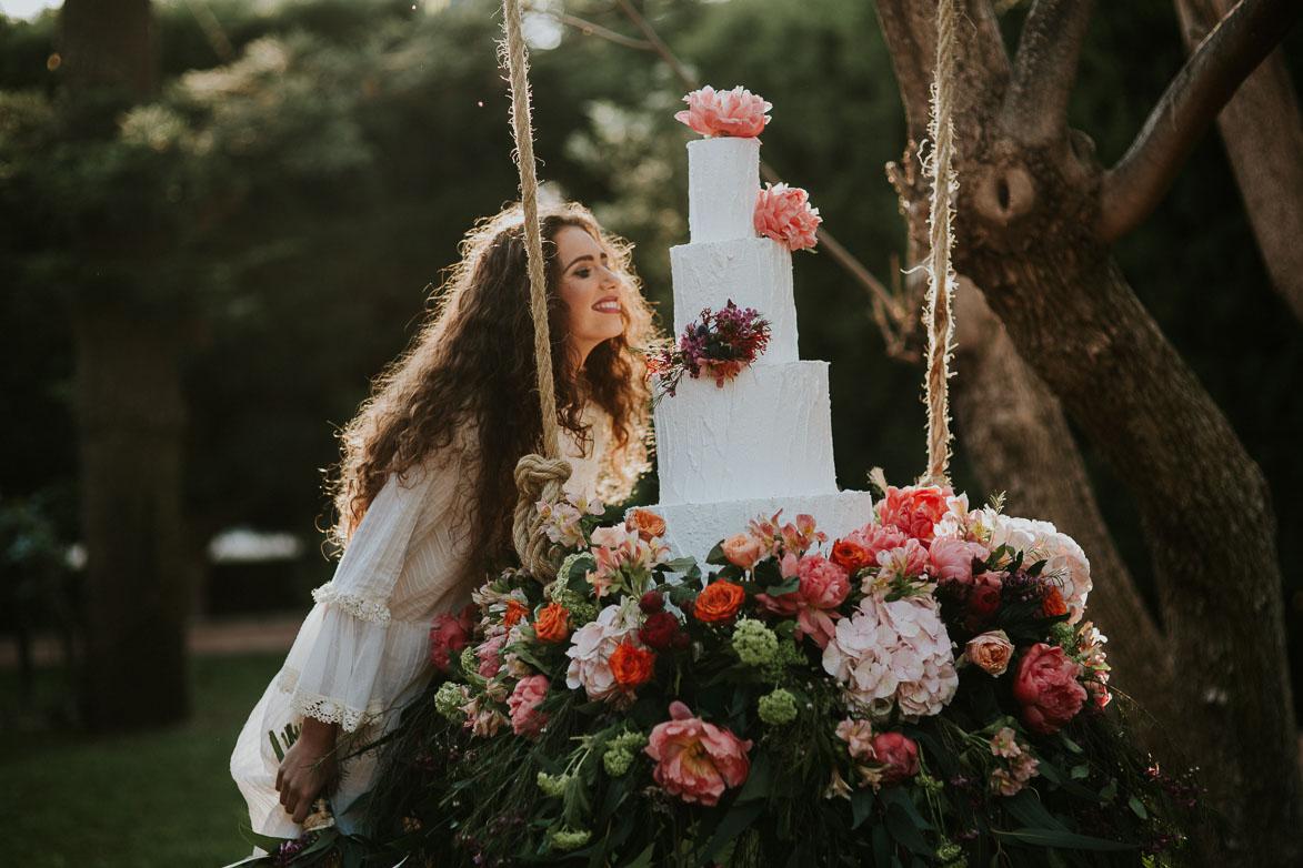 Fotos de boda boho romantica en finca maria ana elche - Bodas sencillas y romanticas ...