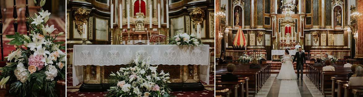 Decoración de Iglesia de AriannaPe y El Juli Flores