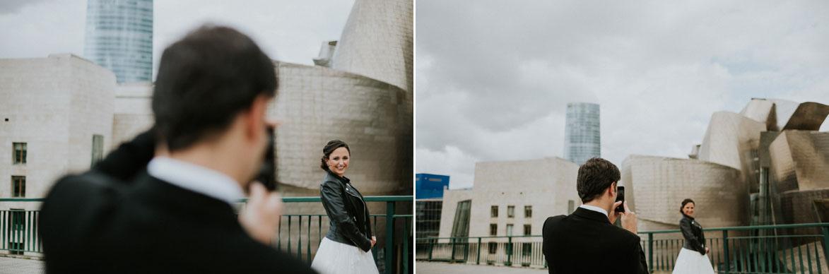 Fotógrafos de boda en Guggenheim Bilbao