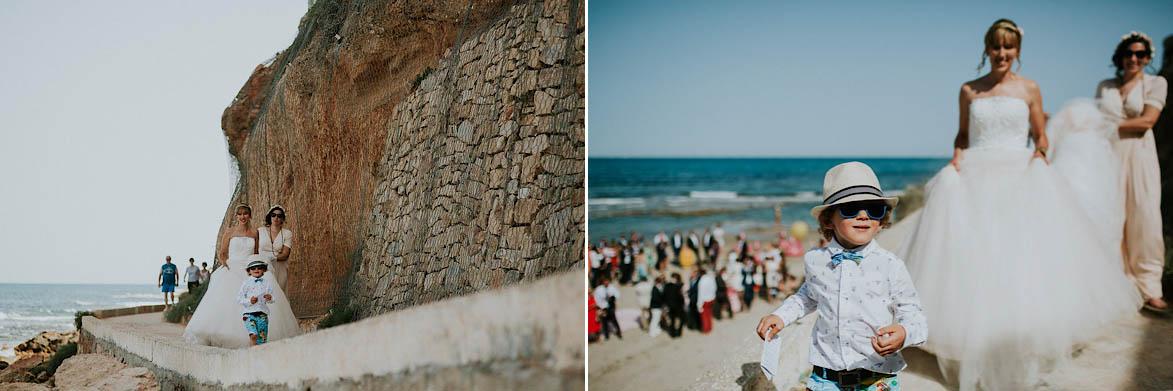 Fotos Fotografos de Boda en la Playa Cabo Roig Torrevieja