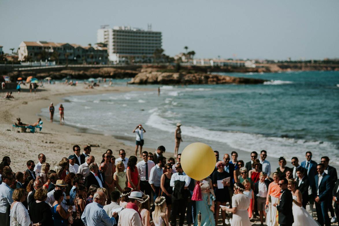 Fotografos de Boda en la Playa Cabo Roig