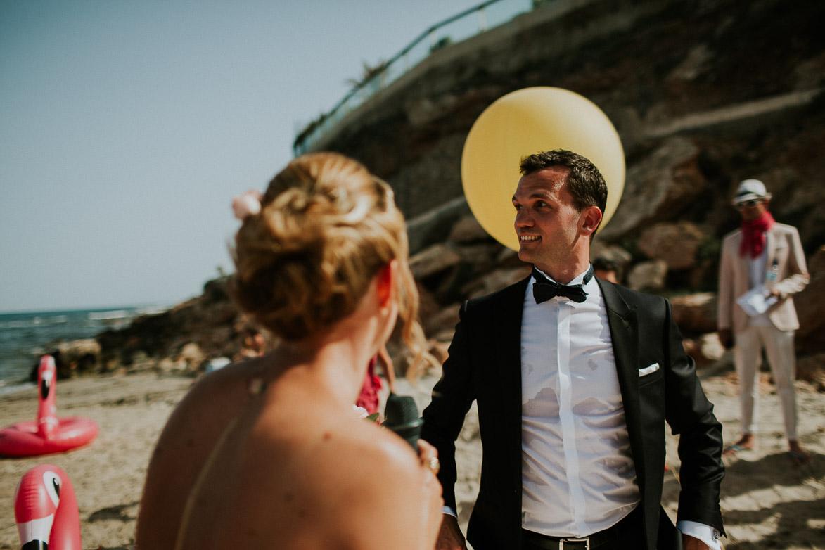 Mariage sur la plage Orihuela Côte Espagne