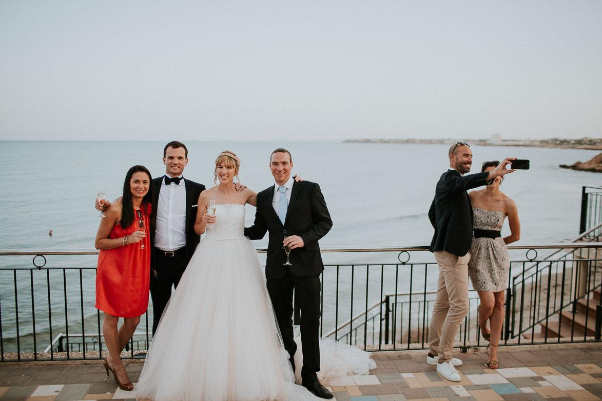 Mariage sur la plage Orihuela Côte Punta Prima Espagne