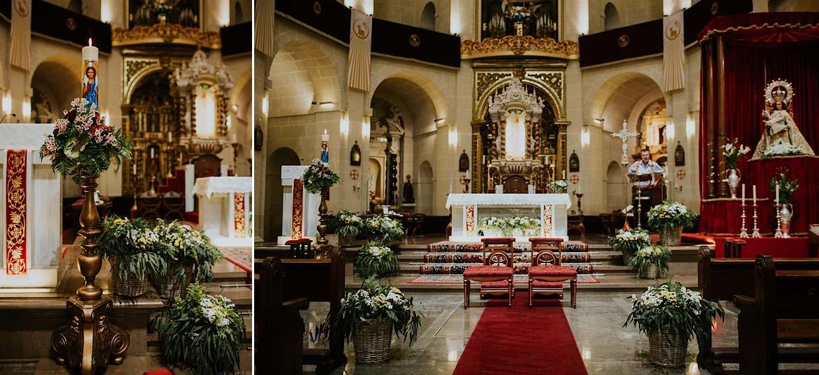 Decoración Concatedral de San Nicolas Floristería La Trastienda