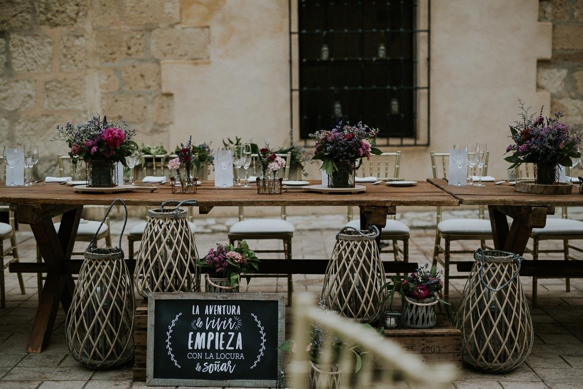 Decoración para mesa presidencial bodas Alicante