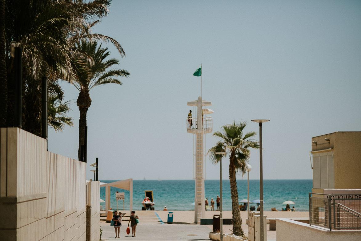 Vistas Banderas Azules Playa Urbanova Alicante