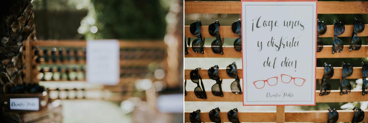 Gafas de regalo para bodas