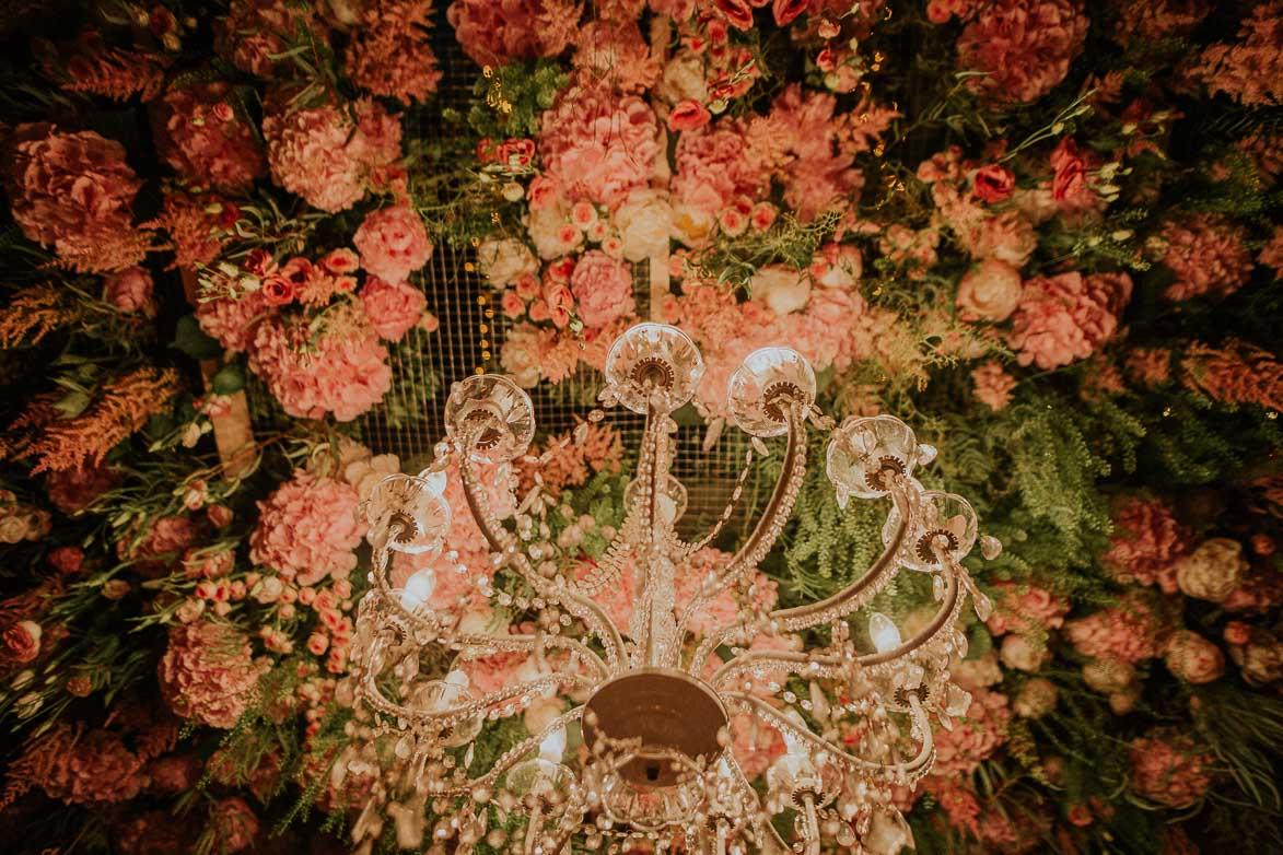 Lamparas y flores para Bodas SiQuiero Malaga