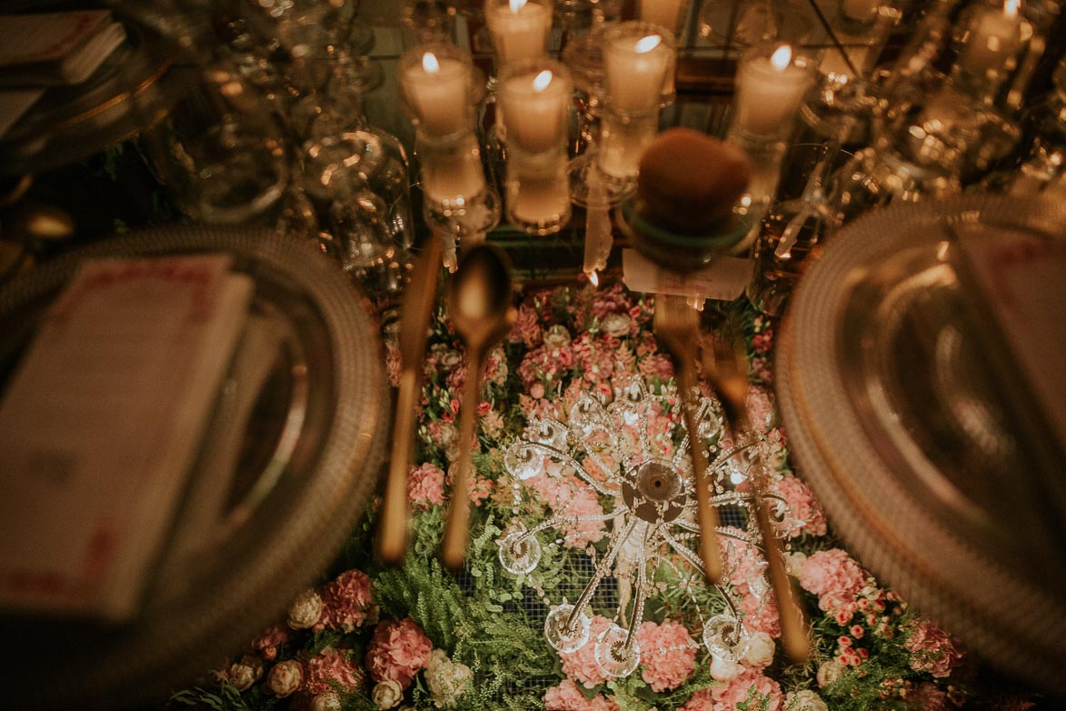 Mesas de Espejo y Decoración para Bodas SiQuiero Wedding Planner