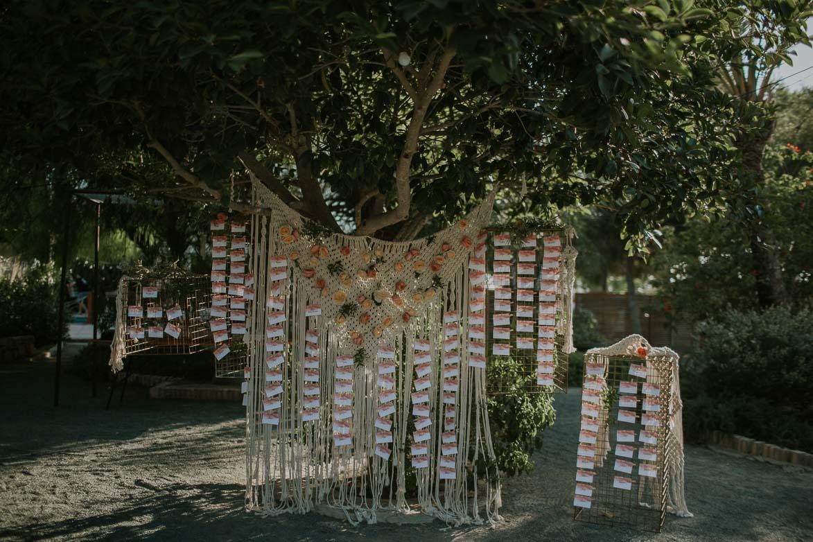Seating Plan de Bodas en Hort del Kalausi