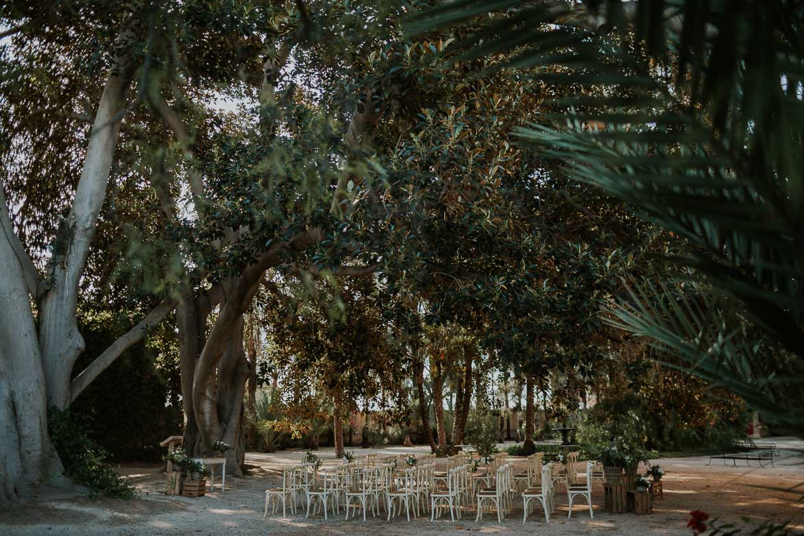 Decoración para Ceremonia Civil en Jardines de Abril Alicante