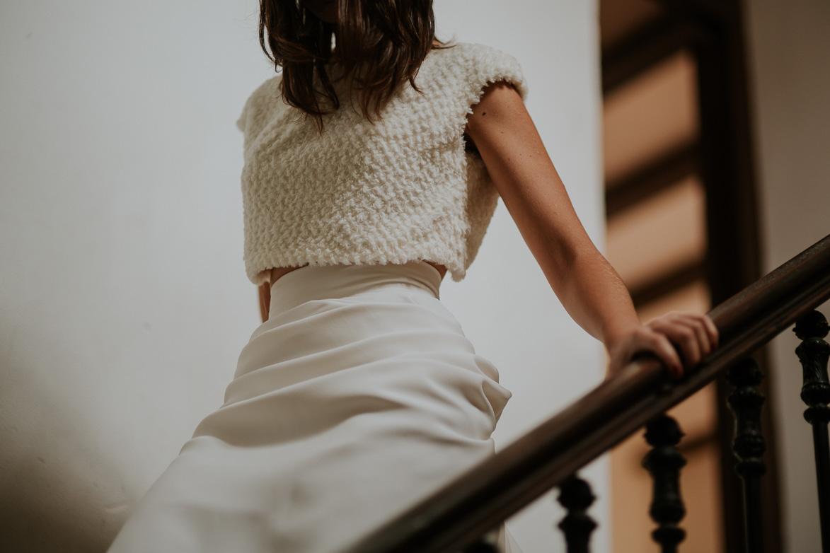 Vestido dos piezas para Novia Ruben Hernandez Atelier
