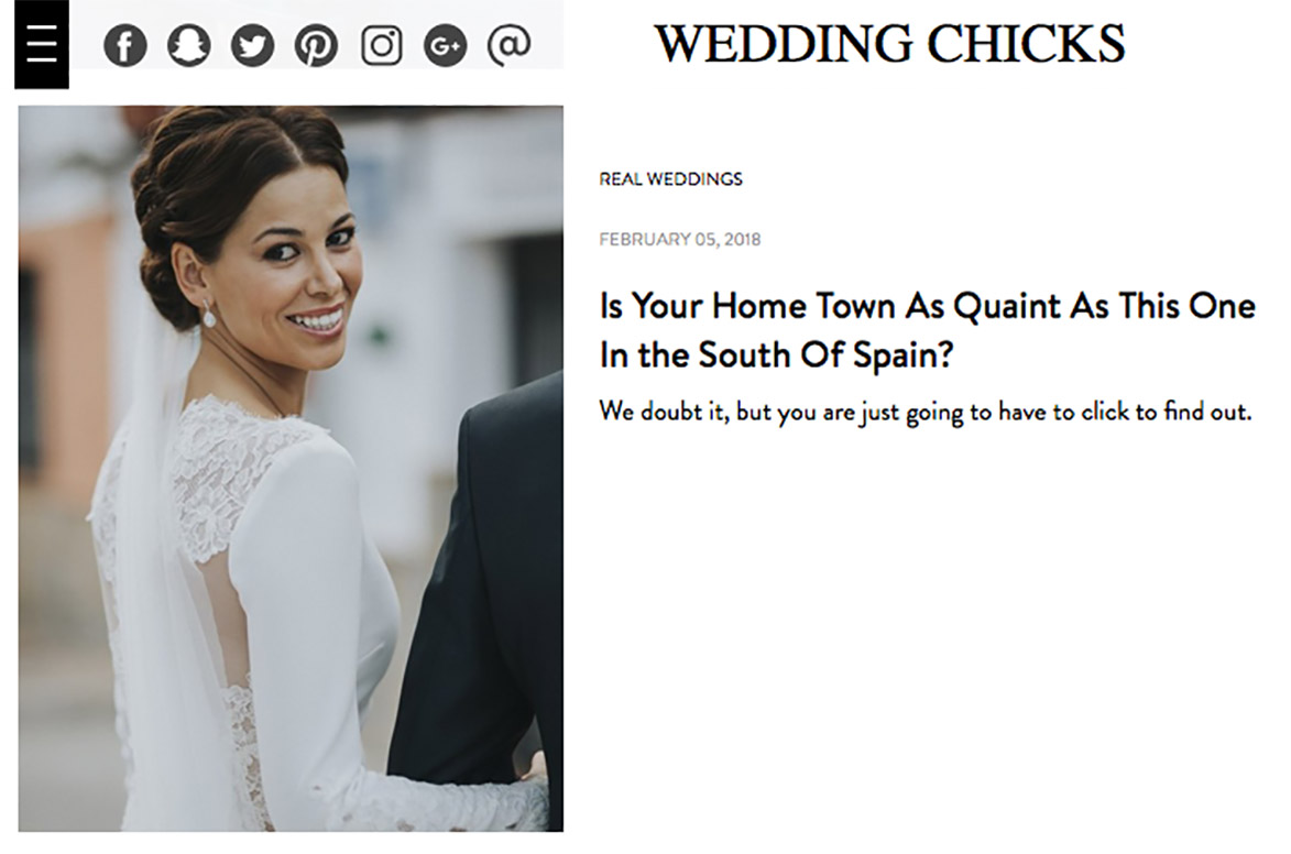 Publicacion en Blog de Bodas Internacional WEDDING CHICKS